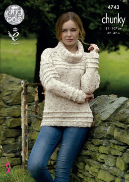 Cardigan & Sweater in King Cole Chunky Tweed - 4743 - Leaflet