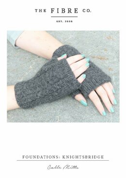 Cable Mitts in The Fibre Co. Knightsbridge - Downloadable PDF