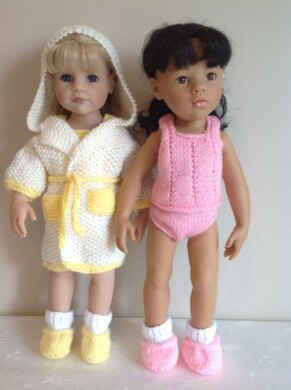 "Dressing gown set for 18"" Dolls"