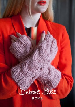 Rosalyn Handwarmers in Debbie Bliss Roma - DBS028 - Downloadable PDF