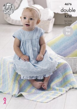Blankets & Cushions in King Cole Melody DK - 4676