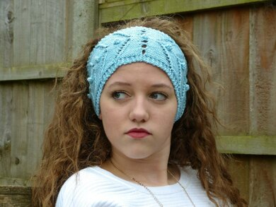 Chevron and Bobble Headband