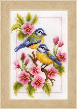 Vervaco Four Seasons Birds - Set of 4 Cross Stitch Kit - 8cm x 12cm