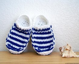 Baby Slippers, Baby Nautical Sailor