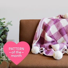 Sweet Gingham Baby Blanket