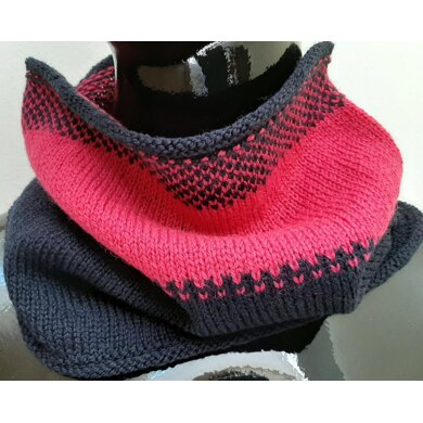 Super Easy Colorwork Cowl