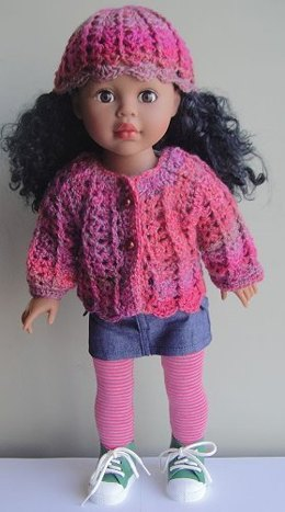 Crochet Shell Stitch Doll Set in Crystal Palace Yarns Sausalito
