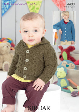 Baby Boy's and Boy's Jackets in Sirdar Snuggly DK - 4490