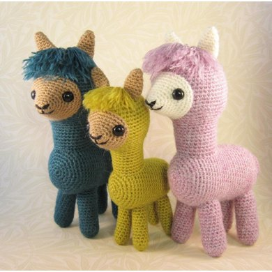 Alpaca Family Amigurumi Crochet Pattern By Lucy Collin Crochet