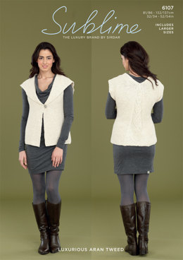 Ecru Waistcoat in Sublime Luxurious Aran Tweed - 6107