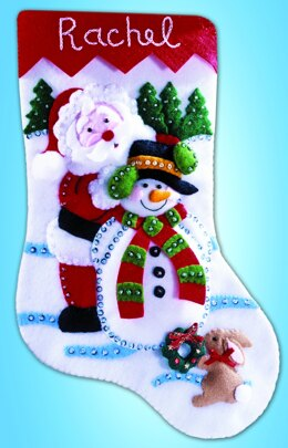 Design Works Winter Wonderland Felt Stocking Kit