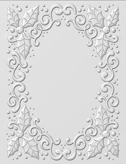 """Creative Expressions 3D Embossing Folder 5.75""""X7.5"""" - Holly Swirls"""