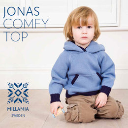 """Jonas Comfy Top"" - Top Knitting Pattern For Boys in MillaMia Naturally Soft Merino"