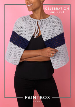 Celebration Capelet in Paintbox Yarns Baby DK - Downloadable PDF