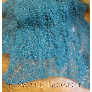 169 Snowdrops And Curved Leaf Lace Scarf Knitting Pattern By