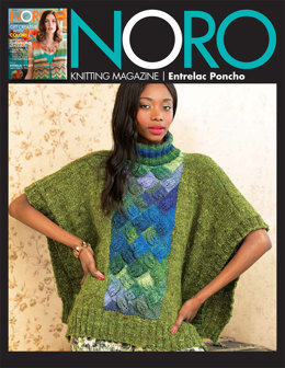 Entrelac Poncho in Noro Silk Garden Solo and Silk Garden Sock Yarn - 18 - Downloadable PDF