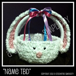 """Cottontail"" Easter Bunny Basket"
