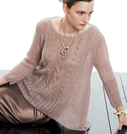 Pulli in A-Linie mit Zopf-Noppenmuster in Lana Grossa Lace Pearls