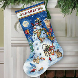 Dimensions Snowman and Friends Stocking Cross Stitch Kit - 114cm
