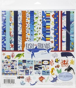 "Echo Park Paper Carta Bella Collection Kit 12""X12"" - Fish Are Friends"