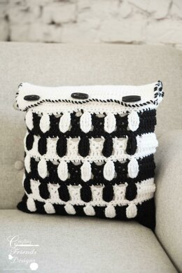 Pebbled Archway Reversible Square Pillow Cover