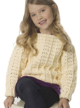 Child's Retro Ribbed Pullover in Caron One Pound - Downloadable PDF