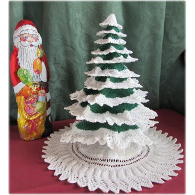 Knitted Christmas Tree Knitting Pattern By Frances Powell