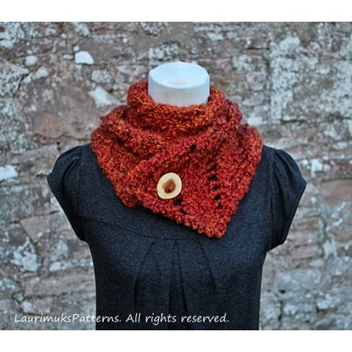 Lion Brand Homespun Thick Quick Wild Flame Scarf Knitting Pattern