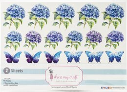 Dress My Crafts Fussy Cutting Image Sheet 240gsm A4 2/Pkg - Hydrangea Lawns