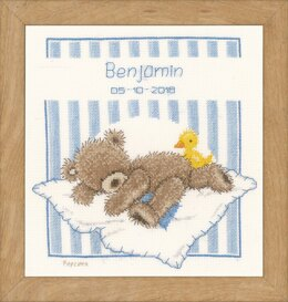 Vervaco Popcorn Bear & Soufflé Duck Cross Stitch Kit -  20cm x 23cm