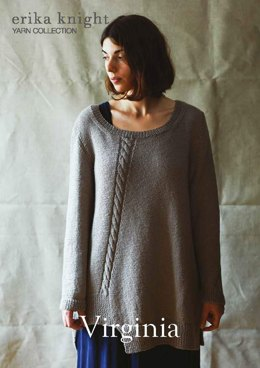 Virginia Sweater in Erika Knight British Blue 100