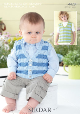 Waistcoat and Tank Top in Sirdar Snuggly Baby Bamboo DK - 4428