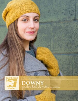 Downy Garter Hat & Mitts in Juniper Moon Farm Stratus - J43-01 - Downloadable PDF