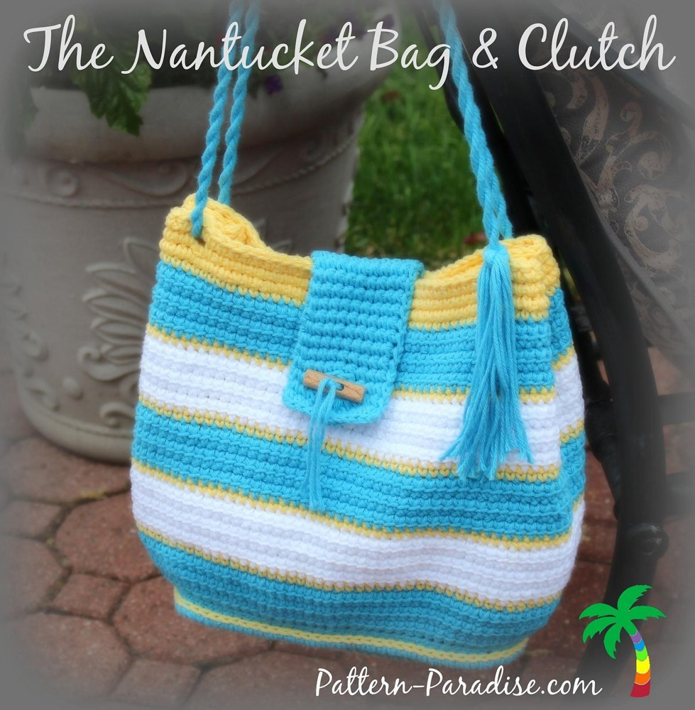 Nantucket Afghan Knitting Pattern : The Nantucket Bag PDF14-146 Crochet pattern by Pattern ...