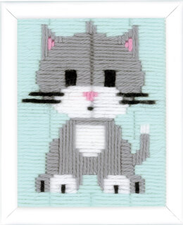 Vervaco Long Stitch Kit: Grey Kitty
