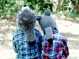 Raff and Rolf The Wolf Tail PDF Crochet Pattern