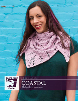 Coastal Shawl in Juniper Moon Zooey Aran - J29-01 - Downloadable PDF