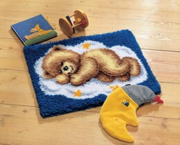 Vervaco Sleepy Teddy Latch Hook Kit