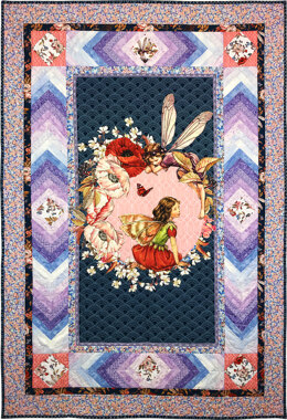 Michael Miller Fabrics Elderberries Flower Fairies Panel Quilt - Downloadable PDF