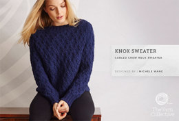 """Knox Jumper by Michele Wang"" - Jumper Knitting Pattern For Women in The Yarn Collective"