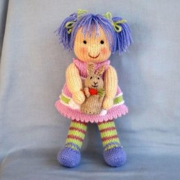 Lucy Lavender - Knitted Doll