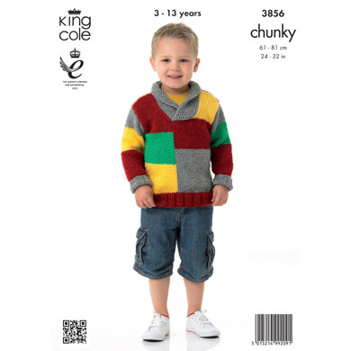 Boys' Sweaters in King Cole Big Value Chunky - 3856
