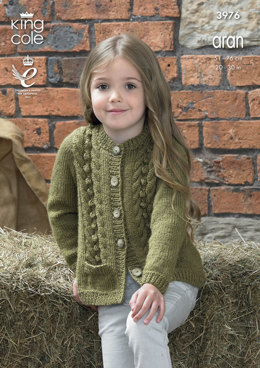 Cardigan and Waistcoat in King Cole Big Value Aran - 3976