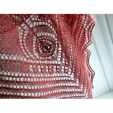 Glasgow Rose shawl