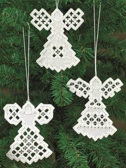 Permin Angel Hardanger Ornament Cross Stitch Kit - 9cm x 10.5cm
