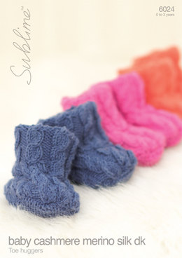 Toe Huggers in Sublime Baby Cashmere Merino Silk DK - 6024 - Downloadable PDF