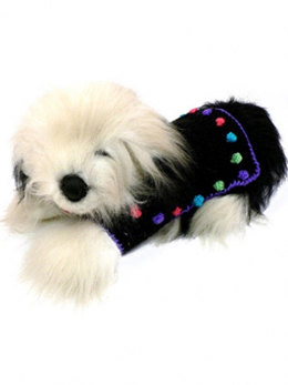Happy Dots Dog Coat in Caron Simply Soft & Simply Soft Brites - Downloadable PDF