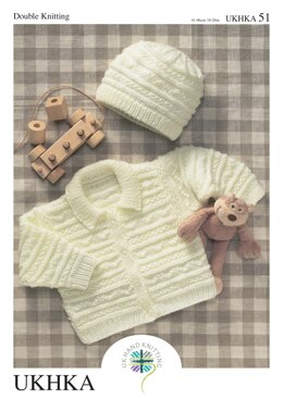 Jacket and Hat in King Cole DK - UKHKA51pdf - Downloadable PDF