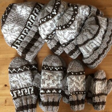 Cowichan-Inspired Hats and Mittens