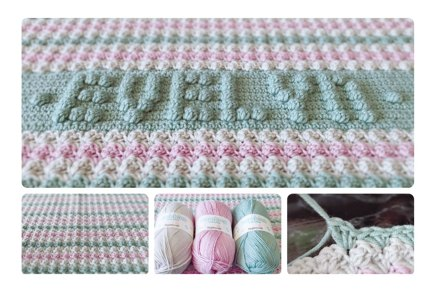 Baby Blanket With Personalised Name Crochet Project By Angela P
